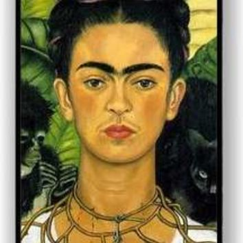 Frida Kahlo Self Portrait Aqua Silicon Bumper iPhone 5 & 5S Case - Fits iPhone 5 & 5S