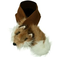 Animal Fur Scarf - Fox Brown OSFM W31S36E