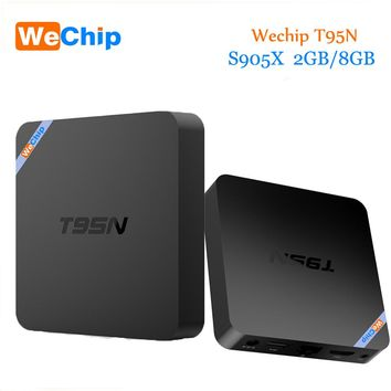 Original WeChip T95N Android 6.0 Tv Box Amlogic S905X