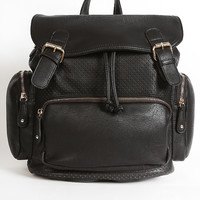 Riverside Perforated Backpack - Black
