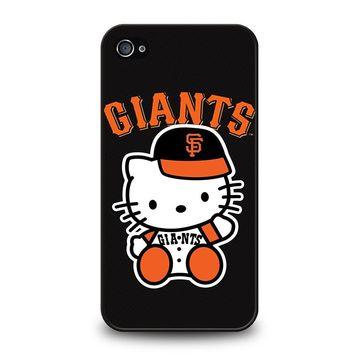 HELLO KITTY SAN FRANCISCO GIANTS iPhone 4 / 4S Case Cover