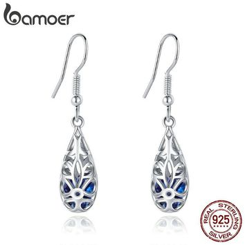 BAMOER 100% 925 Sterling Silver Droplets Earrings