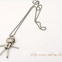 JA003 Robot Necklace, Music Necklace, Quality Bronze Necklace