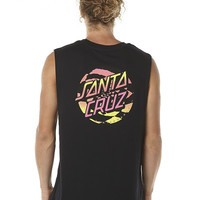 SANTA CRUZ RADICAL DOT MENS MUSCLE - BLACK