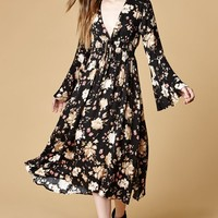 Somedays Lovin Dierdre Floral Print Midi Dress at PacSun.com