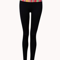 Tribal Print Skinny Workout Pants | FOREVER 21 - 2055878180