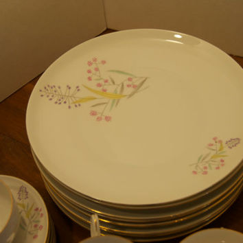 Bohemian China/Vintage China/Set of 8 each teacups. plates, bowls total of 36 pieces