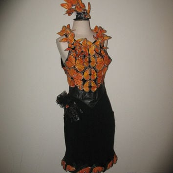SALE Effie Hunger Games Monarch Butterfly inspired dress with hat and glove included