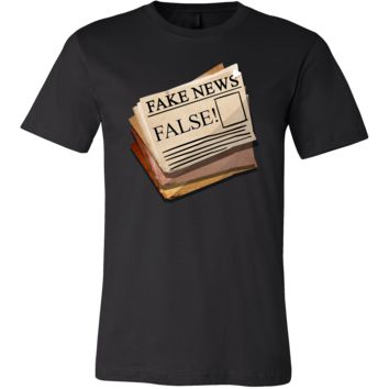 Funny Fake Newspaper Political False News Stamped T-Shirt