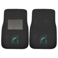 Michigan State Spartans NCAA 2-pc Embroidered Car Mat Set