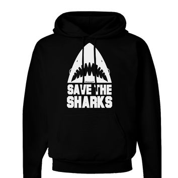 Save The Sharks Dark Hoodie Sweatshirt