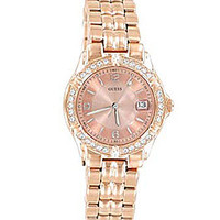 Guess Rose Goldtone & Crystal Watch - Rose Gold
