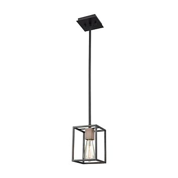 14461/1 Rigby 1 Light Pendant In Oil Rubbed Bronze And Tarnished Brass