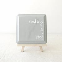 Wooden Sign  Grey and White Wooden Plaque  Reading by RevellHouse