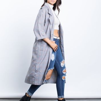 Your Plaid Trench Jacket