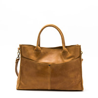 Kerem Convertible Satchel / Brown