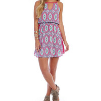 Pink Owl Color Blocked Printed Dress | Dillards