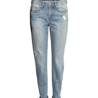 H&M - Boyfriend Slim Jeans - Light denim blue - Ladies
