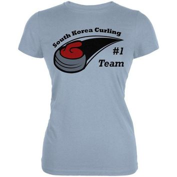 DCCKU3R Winter Games Curling Team South Korea Juniors Soft T Shirt