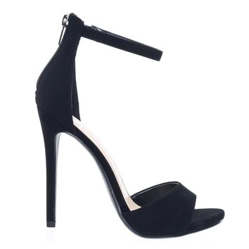 Balty by Delicious High Heel Stiletto Open Toe Dress Sandal w Ankle Strap