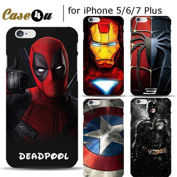 Deadpool Dead pool Taco Marvel  iron Man Superman Case Cover for iPhone 7 8 Plus 6s 5 5s SE Phone Cases Avengers Spiderman Batman Coque Capinhas AT_70_6