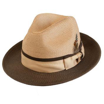 "Bruno Capelo ""Rocco"" Center Dent Two-Tone Fedora"