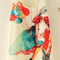 Vest Top with Ballon Lovers from topsales