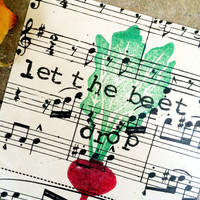 Vintage Sheet Music, Vintage Wall Art, Song Quote Art, Let The Beat Drop Print, Beet Print, Recycled Sheet Music, Love Quote, Vintage Decor