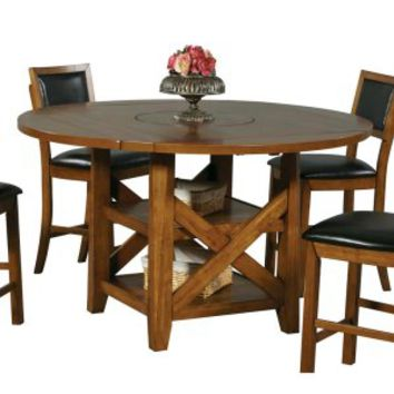 Winners Only Westchester Counter Height Dining Table with Storage Base & Lazy Susan   www.hayneedle.com