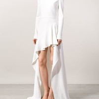 Elie Saab Asymmetric Train Gown - Tootsies - Farfetch.com