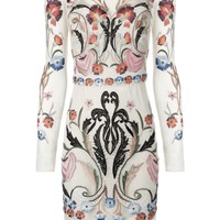 Cream Mix Fitted Toledo Dress | Temperley London | Avenue32
