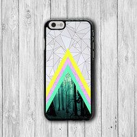 Geometric Abstract Triangle Forest iPhone 6 Cover, iPhone 6 Plus, iPhone 5 / 5S iPhone 5C Cases iPhone 4/4S Accessory Colorful Line Rubber
