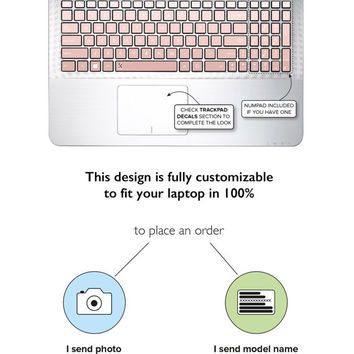 Rose Gold Ombre Asus Keyboard Stickers Keyboard Decals Asus Laptop Skin Laptop Case Asus Zenbook Decal Rose Gold Color Ombre Gradient