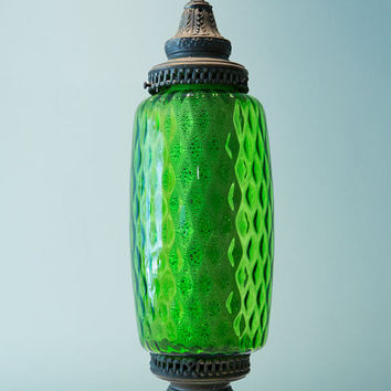 Great Green Glass Swag Chain Light