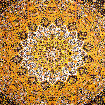 Large Hippie Mandala Tapestry Star Tapestry Psychedelic Wall Hanging Tapestries Beach Blanket Room Diviner Picnic Throw Queen Throw Ethnic