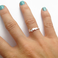 Alligator Animal Ring - Sterling Silver - Tiny animal ring