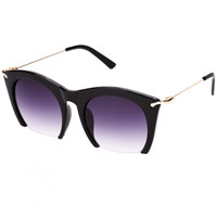 Large Half Frame Sunglasses