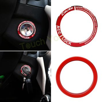 DIY Luminous Alloy Car Ignition Switch Cover Auto Car Accessories Stickers For Cruze Car Styling Decoration