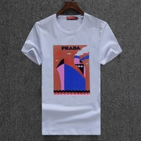 Trendsetter  Prada Women Man Fashion Print Sport Shirt Top Tee