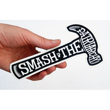 Smash the Patriarchy Extra Large Vinyl Car/Laptop Sticker