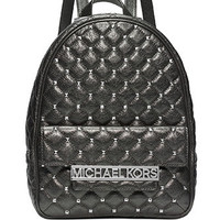 Michael Michael Kors Quilted Kim Studded Medium Backpack