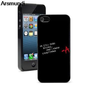Arsmundi Pretty little liars 4 originale Phone Cases for iPhone 4S 5C 5S 6S 7 8 Plus X for Samsung Case Soft TPU Rubber Silicone