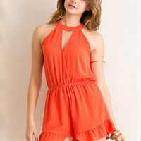 Gameday Gal Romper - Orange