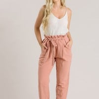 Riley Mauve Tapered Pants