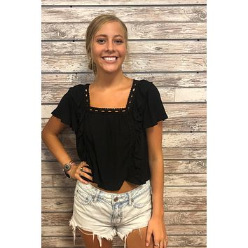 Moment For Life Top- Black