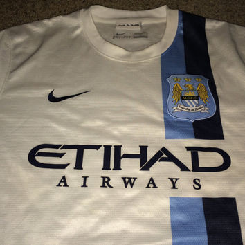 Sale!! Vintage MANCHESTER CITY England Soccer Jersey MCFC Football Shirt