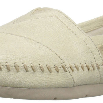 BOBS from Skechers Women's Luxe Rain Dance Flat Natural Suede 8.5 B(M) US '