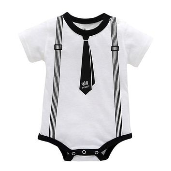 Suspender Onesuit :  Baby Boy Suspenders And Bow Tie Outfit