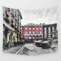 Cracow art 4 Kazimierz #cracow #krakow #city Wall Tapestry by jbjart
