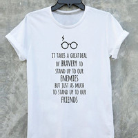 Harry Potter T Shirt Harry Potter Quote Shirt Albus Dumbledore t shirts with sayings Typography Tshirt Vintage Style